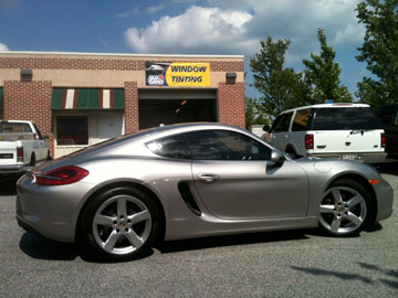 porsche window tinting