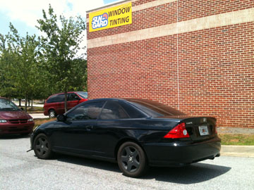 honda civic window tint